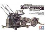 Tamiya 1:35 Działko przeciwlotnicze 20mm Flakvierling 38