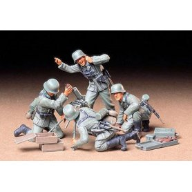 Tamiya 1:35 German infantry mortar team | 4 figurines |