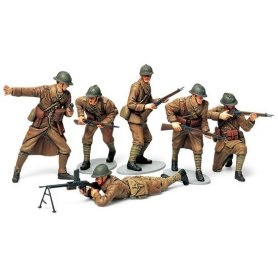 Tamiya 1:35 French infantry | 6 figurines |