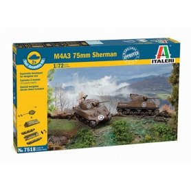 Italeri 1:72 Sherman M4A3   2 pieces  