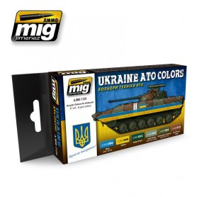 Ammo of MIG Zestaw farb Ukraine ATO Colors