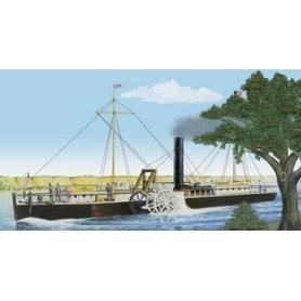 Lindberg 1:96 Fulton Clermont Side-Wheel Powered Steamboat
