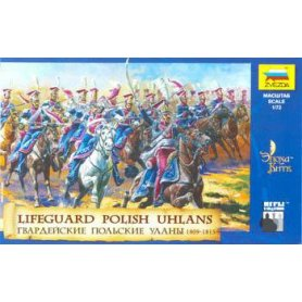 Zvezda 1:72 Polish Uhlans / 1809-1815   18 figurines  