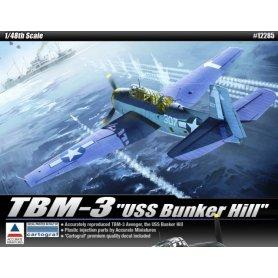 Academy 1:48 TBM-3 Avenger USS Bunker Hll