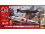 AIRFIX 50127 P-40B WARHAWK + ZERO