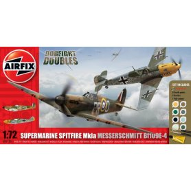 Airfix 1:72 Supermarine Spitfire Mk.Ia and Messerschmitt Bf-109 E-4 - w/paints