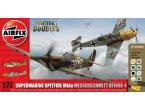 Airfix 1:72 Supermarine Spitfire Mk.Ia and Messerschmitt Bf-109 E-4 | w/paints |