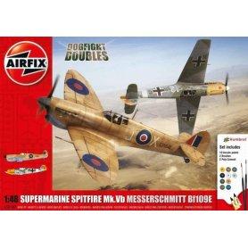 Airfix 1:48 Supermarine Spitfire Mk.Vb and Messerschmitt Bf-109E | w/paints |