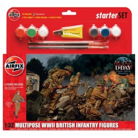 Airfix 1:32 British infantry / WWII | Starter Set | w/paints | 6 figurines |