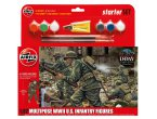 Airfix 1:32 US infantry / WWII | Starter Set | w/paints | 6 figurines |