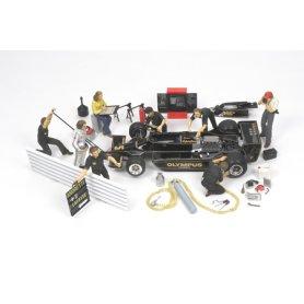 Tamiya 1:20 MOTORSPORTS TEAM SET / 1970-1985  | 8 figurines |