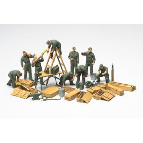 Tamiya 1:48 German tank crew field maintenance | 9 figurines |