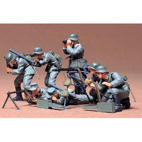 Tamiya 1:35 German infantry w/MG | 7 figurines |
