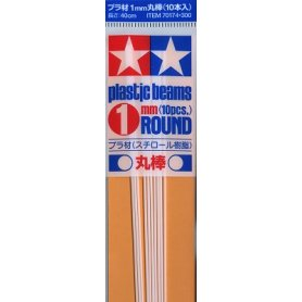 TAMIYA 70174 PLASTIC BEAMS 1MM ROU.