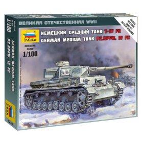Zvezda 6251 1/100 Panzer IV Ausf.F2