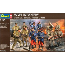 REVELL 02451 1/35 Set WWI German/British/French