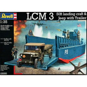 Revell 1:35 LCM 3 i Jeep w/trailer