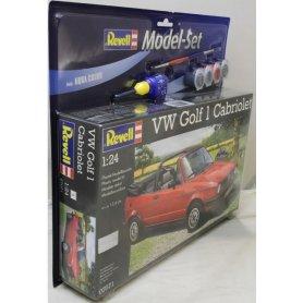 REVELL 67071 1/24 VW GOLF 1 CABRIO - MODEL SET