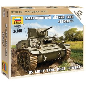 Zvezda 6265 1:100 US Tank Stuard