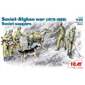 ICM 1:35 Soviet sappers / Afghan War 1979-1988 | 4 figurines |