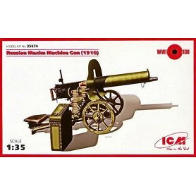 ICM 1:35 35674 RUSSIAN MAXIM MACHINE GUN (1910)