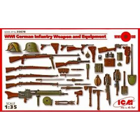 ICM 35678 WWI GER.INF. WEAPON&EQUIP
