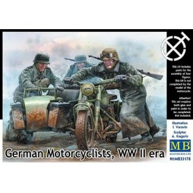 MB 35178 German motorcyclists WWII