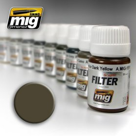 Ammo of MIG FILTER Dark Grey for White