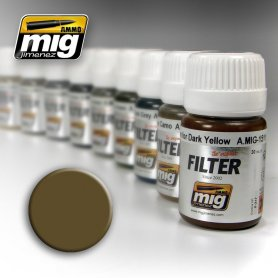 Ammo of MIG FILTER Brown for Desert Yellow