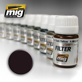 Ammo of MIG FILTER Brown for Dark Green