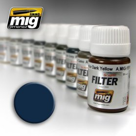 Ammo of MIG FILTER Blue for Dark Grey