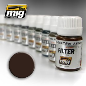 Ammo of MIG FILTER Brown for Dark Yellow