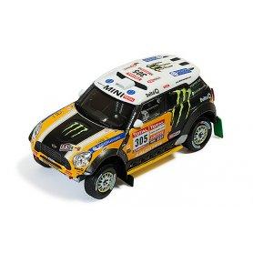 IXO 1:43 MINI ALL 4 Racing 305 J.Roma-M.Périn Dakar 2012 2nd