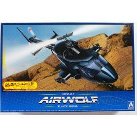 Aoshima 1:48 Bell 222 Airwolf (clear body)