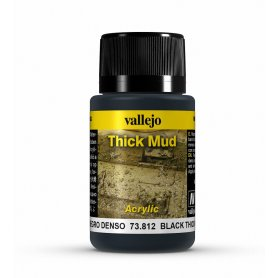 Vallejo Thick Mud - Black Mud 40ml
