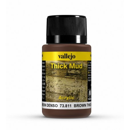 Vallejo Thick Mud - Brown Mud 40ml