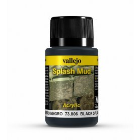 Vallejo Splash Mud - Black Mud 40ml