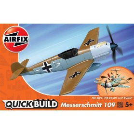 Airfix Klocki QUICK BUILD Messerschmitt Bf109e Desert