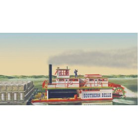 Lindberg 1:96 Southern Bell Paddle-Wheel Powered Steamboat