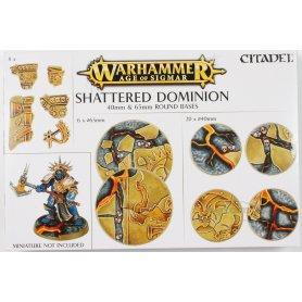 Podstawki 65 i 40mm okrągłe AoS Shattered Dominion