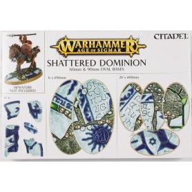 Podstawki 65 i 90mm owalne AoS Shattered Dominion