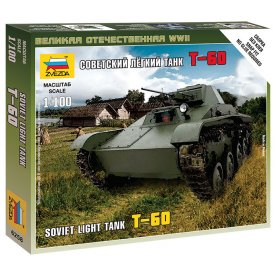 Zvezda 6258 1/100 T-60 Soviet Light Tank