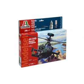 Italeri 1:72 AH-64D Apache Longbow - MODEL SET - w/paints