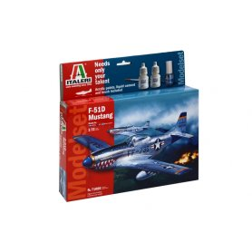 Italeri 1:72 North American F-51D Mustang - MODEL SET - z farbami
