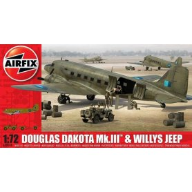 Airfix 1:72 09008 Douglas Dakota Mk.III and Willys Jeep