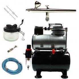 Aerograf i kompresor - zestaw Ultra + akcesoria