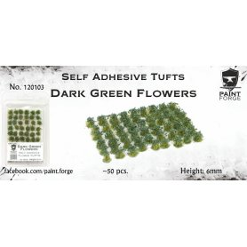 Dark Green Flowers 6mm