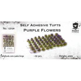 Kwiatki Purple Flowers 6mm