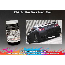 Farba Zero Paints 1124 Matt Black Flat 60ml