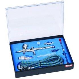 Aerograf TG 180K Professional + 3 dysze 0,2+0,3+0,5 mm + wąż 1,8m